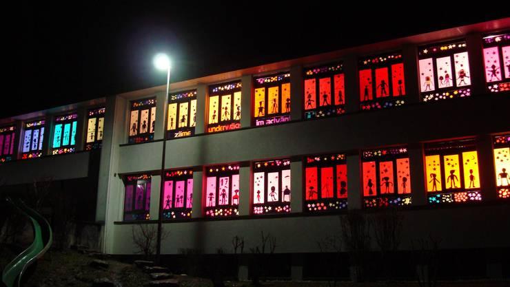 Adventsfenster der Schule Wittnau