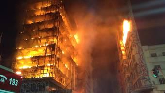 Hochhaus in Sao Paulo in Brand