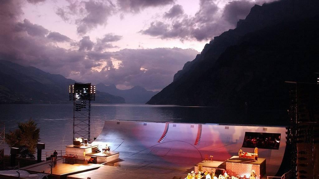 Eine Aufführung von «Heidi» im Jahr 2005 auf der Walensee-Bühne. (Archiv)