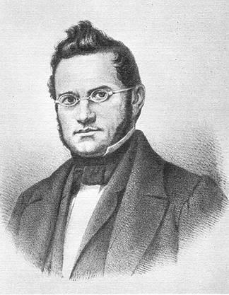 Jonas Furrer (1805–1861) 1848 erster Bundespräsident der Schweiz.