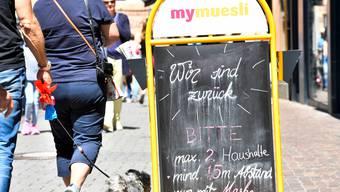 Konstanz: Erstes Einkaufswochenende nach Lockerung des Lockdowns.