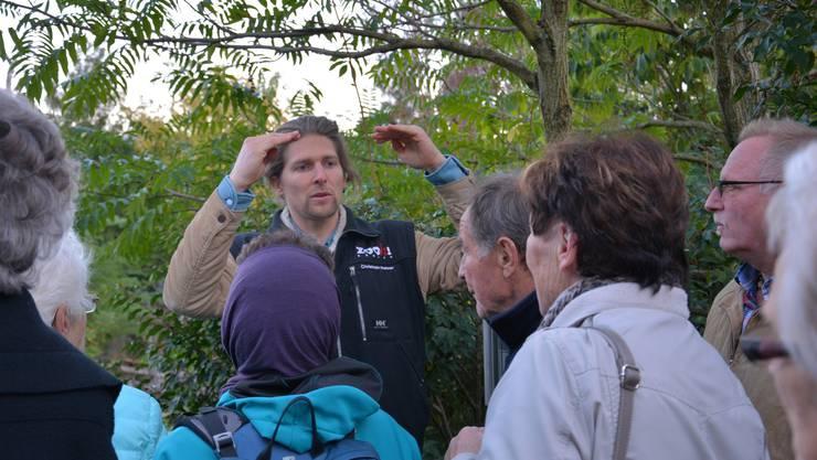 Christoph Rohrer führt kompetent und mit viel Begeisterung durch den Zoo Zürich