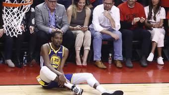 Kevin Durant zog sich vor ziemlich genau einem Jahr in der Finalserie mit den Golden State Warriors gegen die Toronto Raptors einen Riss der Achillessehne zu