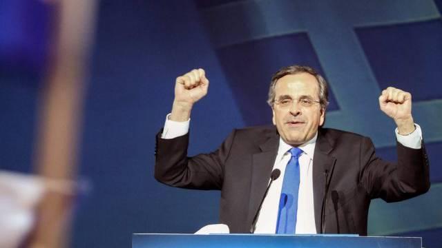 Der griechische PremierAntonis Samaras zeigt sich kämpferisch