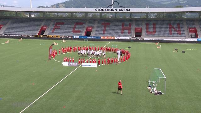 «Kids Camp» FC Thun: Hundert Kinder trainieren mit den Stars!