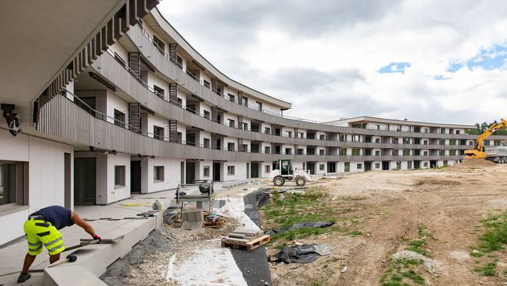 Die Überbauung Schöngrün im Juli 2020. Die Wohnungen sind fast bezugsbereit