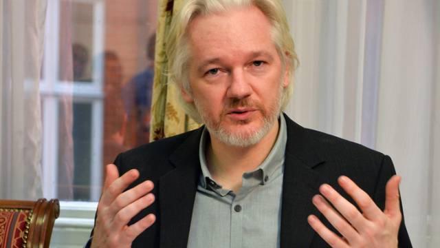 Wikileaks-Grüner Julian Assange in der ecuadorianischen Botschaft