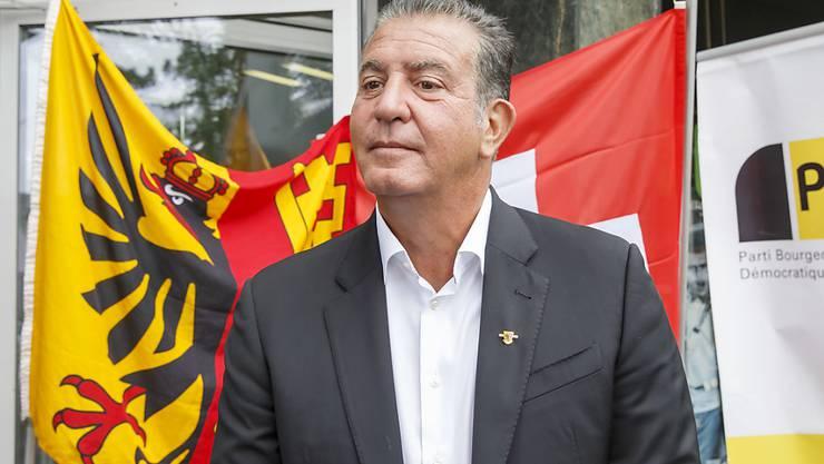 Eric Stauffer, der frühere Präsident der Genfer Protestpartei MCG, ist jetzt offiziell Mitglied der Genfer BDP. Als solches kandidiert er für den Nationalrat. (Archivbild)