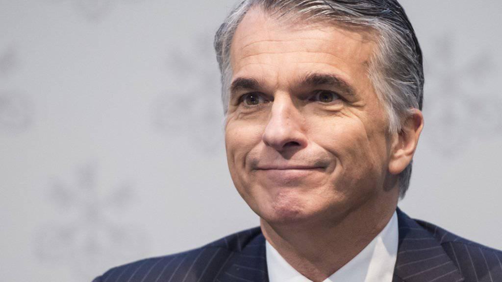 UBS-Chef Sergio Ermotti stellt bei seinen reichsten Kunden noch immer Zurückhaltung fest (Archiv).