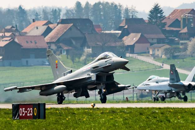 Besser gleich einmotten? Eurofighter-Jets am 12. April  in Payerne VD.