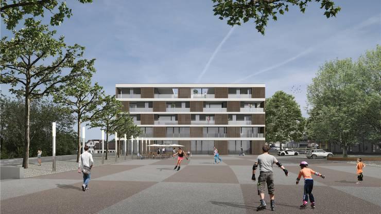 Die Studie der Frei Architekten AG zeigt, wie ein künftiges Zentrum auf dem Bärenplatz aussehen könnte.