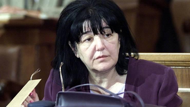 """Mira Markovic, oft """"Lady Macbeth des Balkans"""" genannt, ist tot. Sie war die Witwe von Serbiens früherem Staatschef Slobodan Milosevic. (Archivbild aus dem Jahr 2001)"""