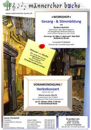 Workshop und Vorankündigung