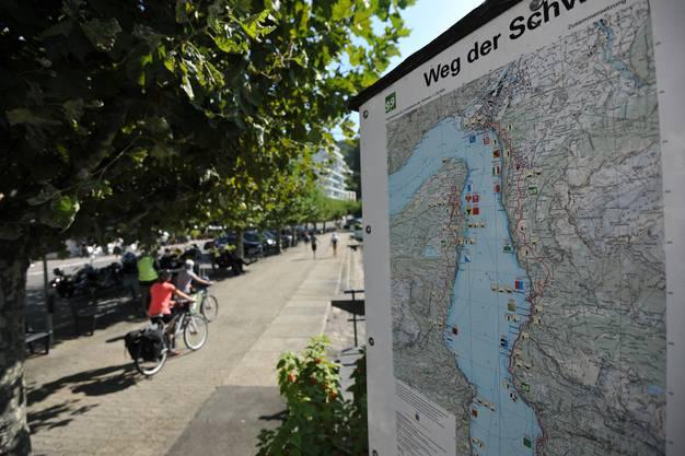 In Brunnen (Bild) endet der Weg der Schweiz.