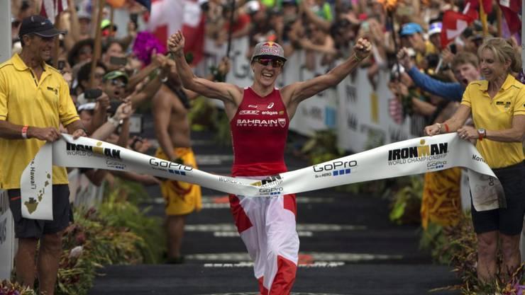 Daniela Ryf bei ihrem Triumph beim Ironman auf Hawaii