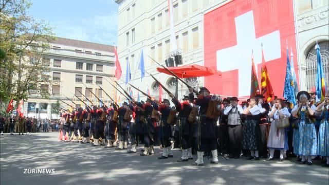 Stadt Zürich in Festlaune