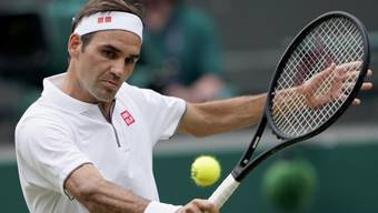 Roger Federer feierte gegen Kei Nishikori seinen 100. Sieg im Einzel in Wimbledon, den 186. in seiner Karriere auf Rasen