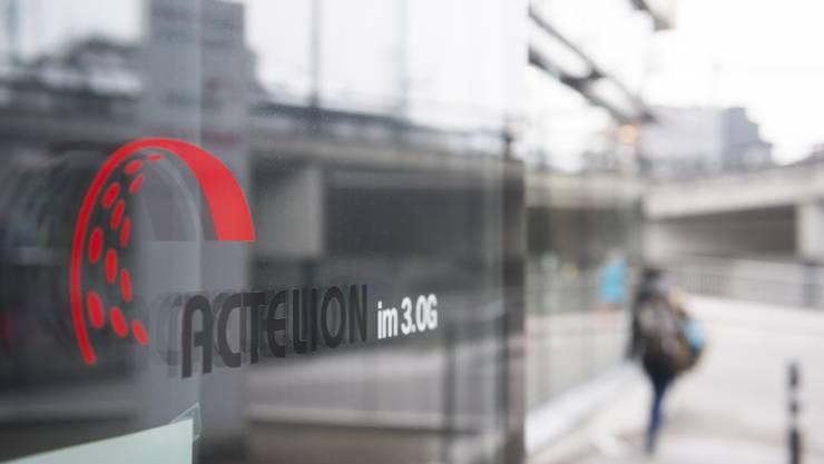 Actelion Pharma Schweiz beschäftigt im Badener Gstühl-Center ein Dutzend Mitarbeiter. ASP
