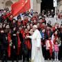 Annäherung: Papst Franziskus empfängt im April gläubige Chinesen in Rom. Key