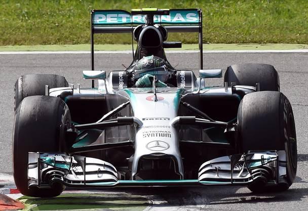 Nico Rosberg kam hinter seinem Team-Kollegen als Zweiter ins Ziel.
