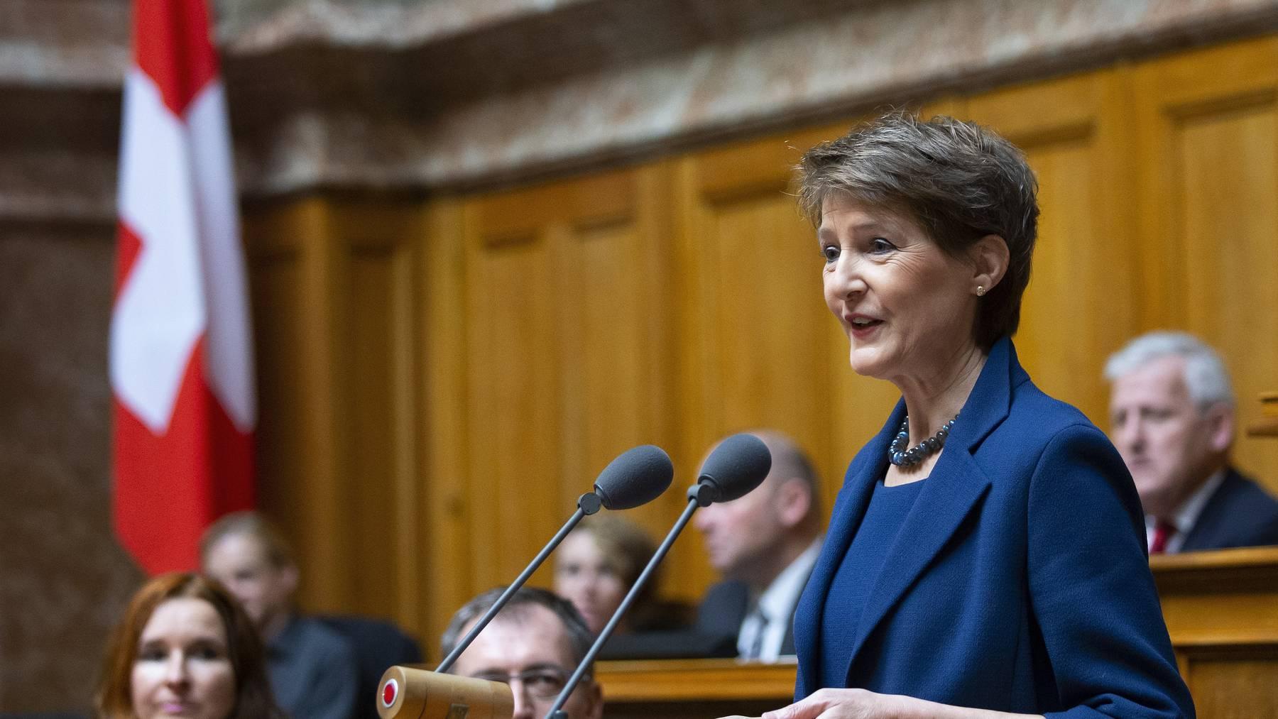 In ihrem Präsidialjahr will die Schweizer Bundespräsidentin Frauen für das Gemeindepräsidium begeistern.