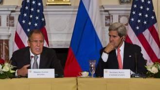 Die Verteidigungs- und Aussenminister Russlands (l) und der USA