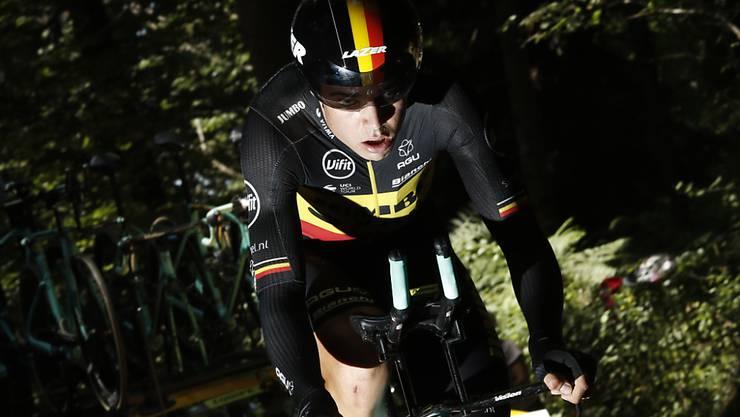 Zu diesem Zeitpunkt war beim Belgier Wout van Aert alles noch in Ordnung - einige Kilometer später stürzte und verletzte er sich