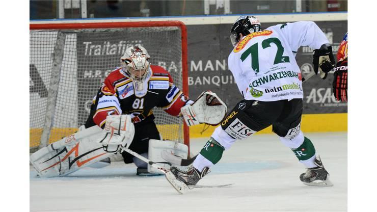 Oltens Diego Schwarzenbach scheitert an Basel-Goalie Urban Leimbacher