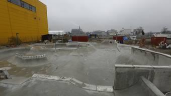 Im Rahmen der Zwischennutzung ist beim Hafen eine Skateanlage entstanden.
