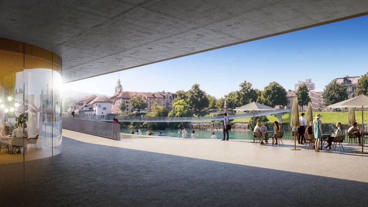 Freundlicher und hindernisfreier präsentiert sich die neu gestaltete Bahnhofterrasse, die zur Drehscheibe wird.