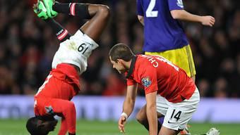 ManU (hier Welbeck und Hernandez) scheitert im FA-Cup an Swansea