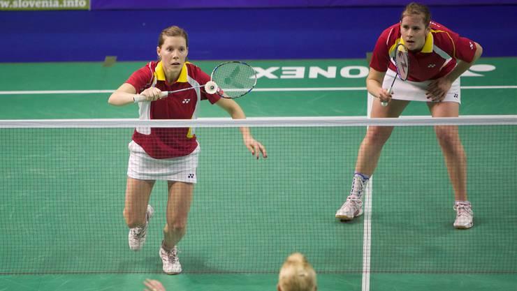 Die Baslerin Marion Gruber (r.) im Doppel gegen Schottland zusammen mit Sabrina Jaquet.Sven Heise