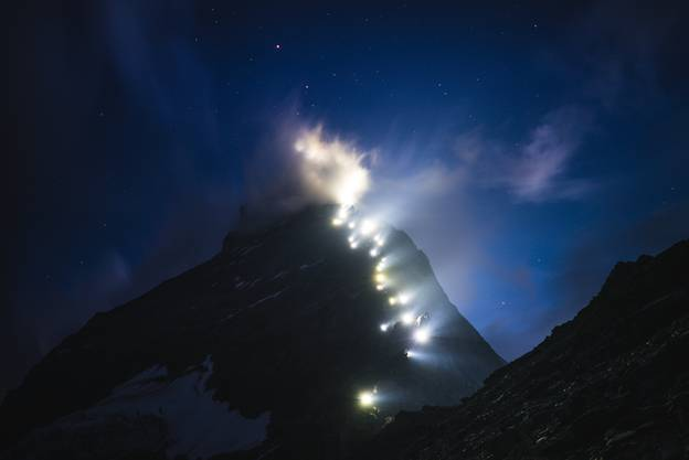 Die Eindrücke aus den Bergen sehen teilweise aus wie abstrakte Kunstwerke.