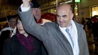 Alain Berset wird in Fribourg festlich empfangen