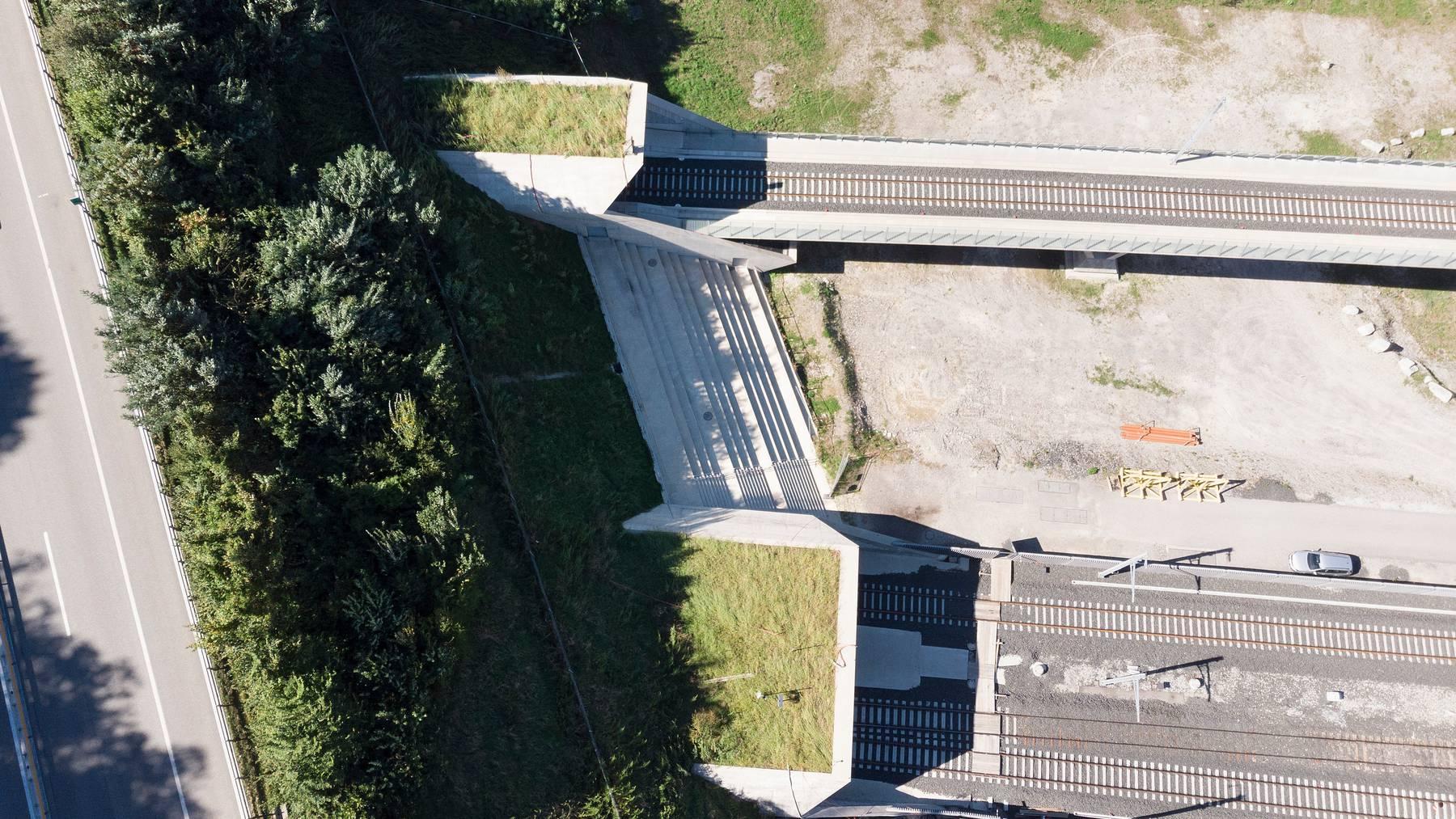 Das Nordportal des Ceneri-Basistunnels – als es sich noch im Bau befand 2018.