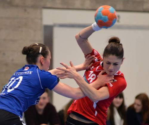 Angela Krieger erzielte auch gegen den NLA-Leader Zug 7 Treffer für Leimental.