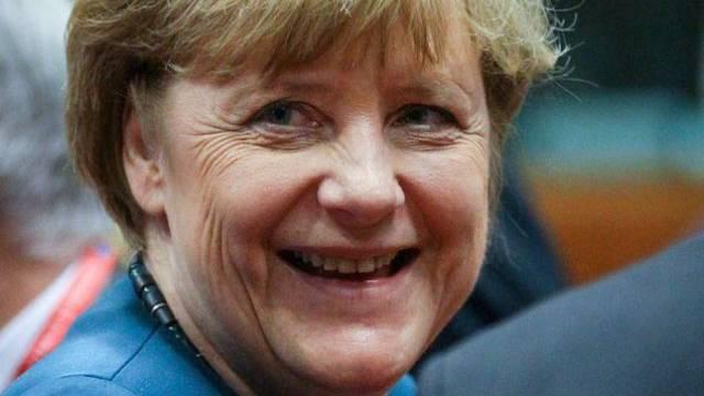 "Angela Merkel ist laut ""Forbes"" das Rückgrat der EU (Archiv)"