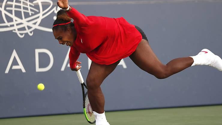 So oft wie noch nie sah Serena Williams beim 1:6, 0:6 gegen Johanna Konta den Bällen hinterher