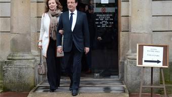 François Hollande und Valérie Trierweiler