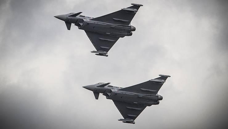 Kampfjets von Eurofighter stehen auch als F/A 18-Ersatz zur Debatte.