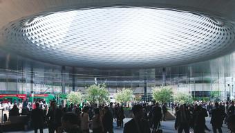 Messehalle und City Lounge am Messeplatz in Basel. (Archiv)