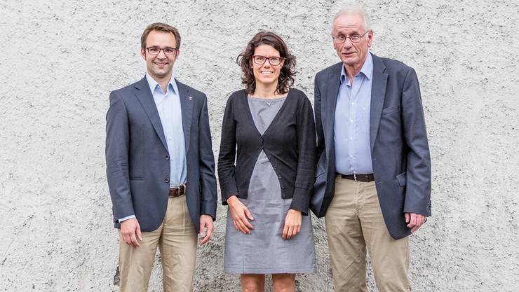 Stadtammann-Kandidaten (v. l.): Titus Meier, Barbara Horlacher, Richard Fischer.