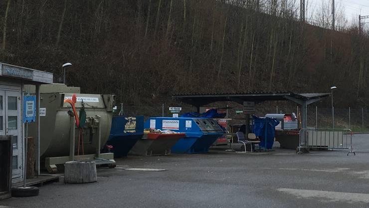 Die Sammelstelle am Werkhof wurde aufgelöst.