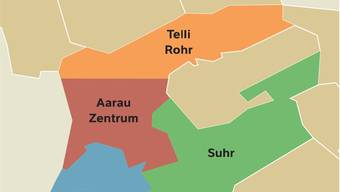 Wahlkreise Zukunftsraum Aarau
