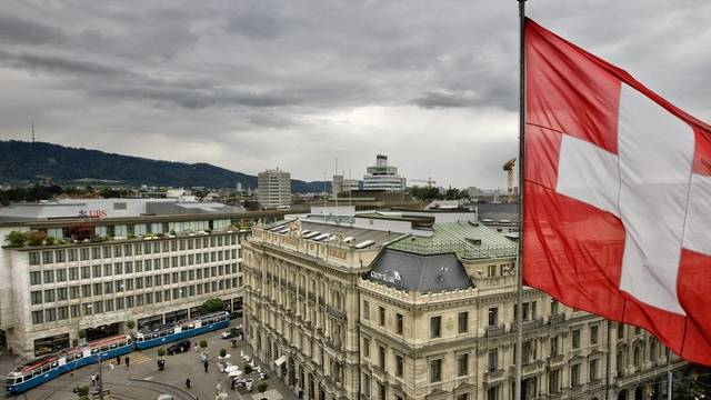 Das Herzstück der Schweizer Finanzbranche: Der Paradeplatz in Zürich