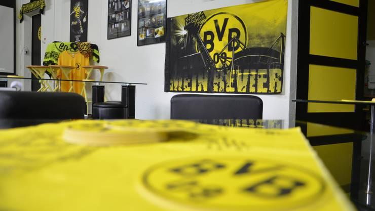 Schwarz-gelb dominiert im Vereinslokal