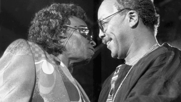 1991: Miles Davis und Quincy Jones mit der George Gruntz Concert Jazz Band Live in Montreux.