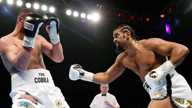 Arnold Gjergjaj bleibt in der Londoner O2-Arena gegen den ehemaligen Cruiser- und Schwergewichts-Weltmeister David Haye aus England chancenlos und verlor durch TKO in der 2. Runde.