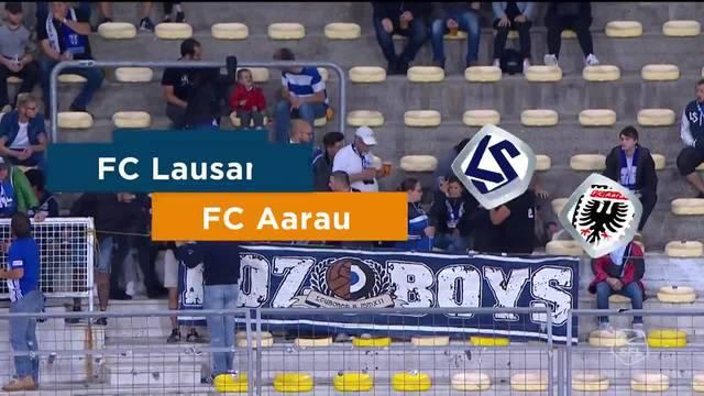 Challenge League, 2018/19, 7. Runde, FC Lausanne – FC Aarau, komplette Highlights