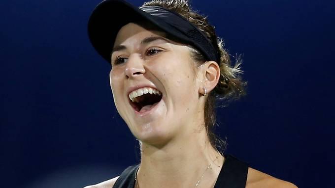 In Dubai weiterhin auf der Überholspur: Belinda Bencic steht nach dem dritten Sieg gegen eine Top-Ten-Spielerin im Final